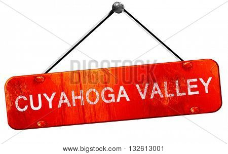Cuyahoga valley, 3D rendering, a red hanging sign