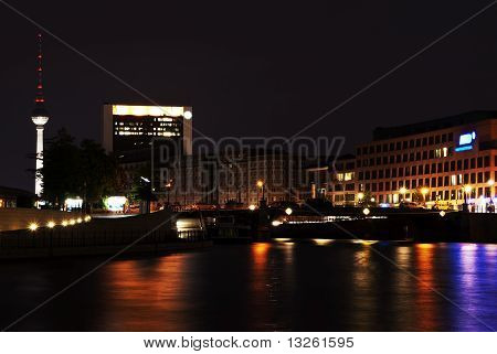 Alexander Platz Viewed From Spree River (tele)