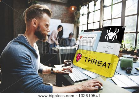 Threat Malware Analysis Computer Concept