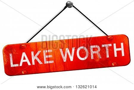 lake worth, 3D rendering, a red hanging sign