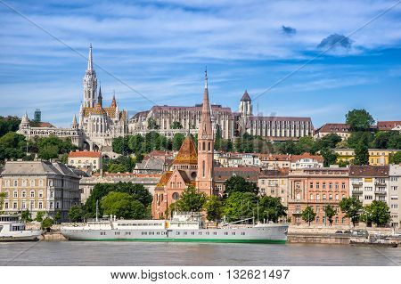 Matyas Church and the National Gallery in Budapest