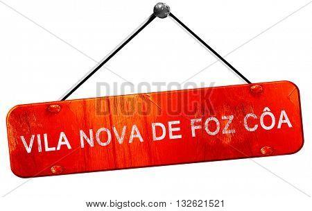 Vila nova de foz coa, 3D rendering, a red hanging sign
