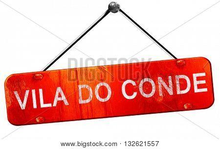 Vila do conde, 3D rendering, a red hanging sign