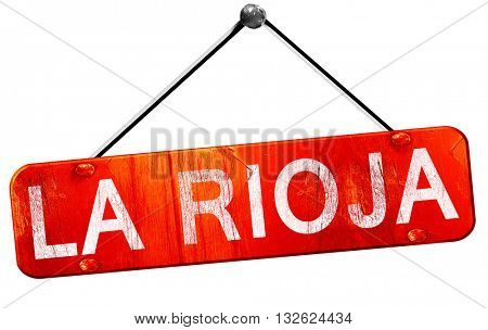 La rioja, 3D rendering, a red hanging sign