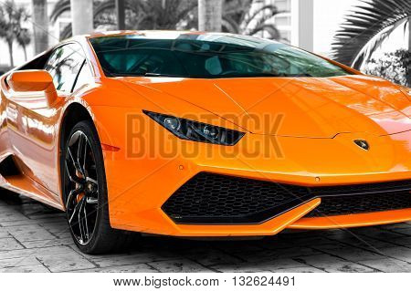 Orange Sport Car Lamborghini Aventador