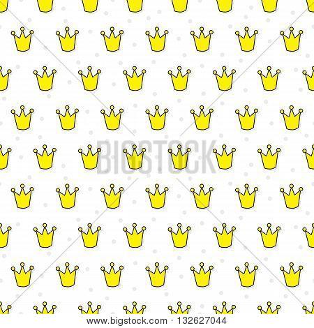 Little Crowns Seamless Pattern