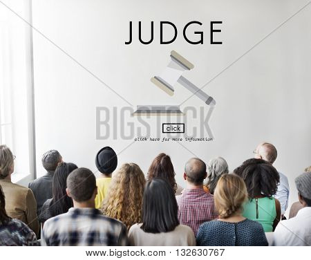 Judge Justice Judgement Legal Fairness Law Gavel Concept