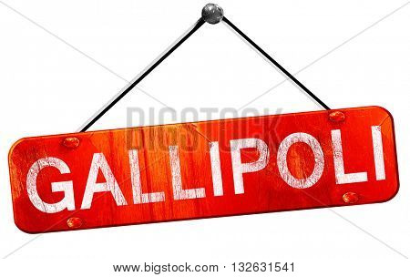 Gallipoli, 3D rendering, a red hanging sign