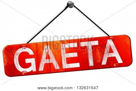 Gaeta, 3D rendering, a red hanging sign