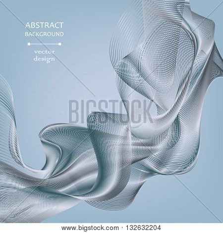 Abstract lighting background. Monochrome gray-blue background with metal effect. Element for design. Vector background eps 10.