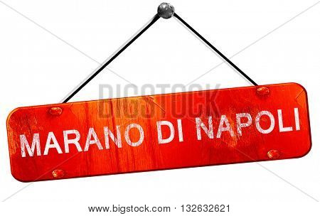 Marano di napoli, 3D rendering, a red hanging sign