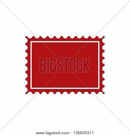 Red post stamp icon vector illustration isolated on white backgorund.