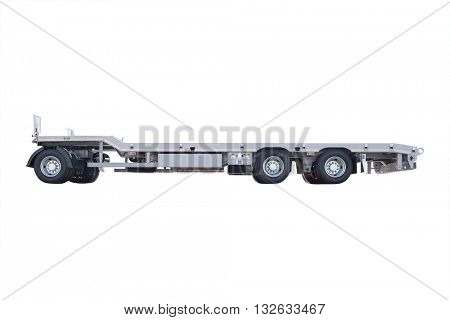 The image of a trailer under the white background