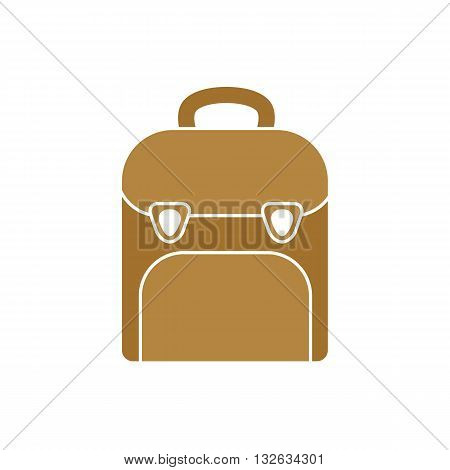 School bag icon vector illustration isolated on white background.