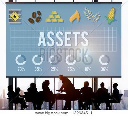 Assets Advantage Benefit Bonus Bookkeeping Concept
