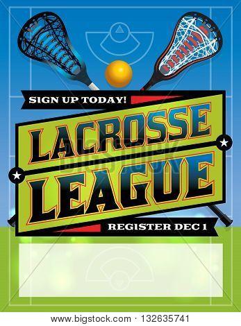 Lacrosse League Template Design