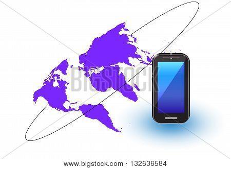 phone network ,Social network background,internet, land, map, modern, network, partners,