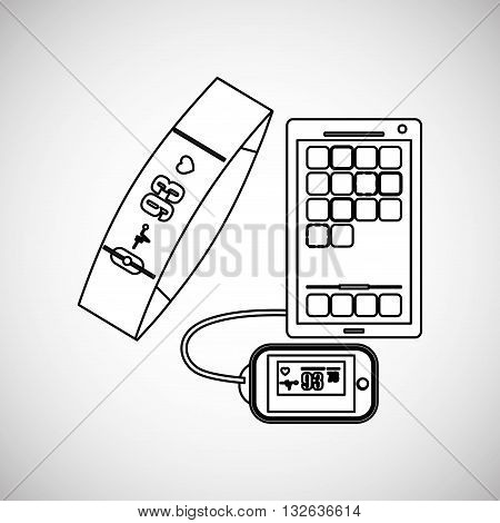 Wearable technology concept with icon design, vector illustration 10 eps graphic.
