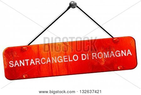 Santarcangelo di romagna, 3D rendering, a red hanging sign