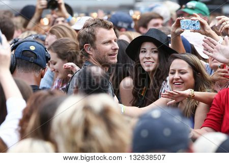 NEW YORK-JUNE 26:  Singer Dierks Bentley performs at ABC's Good Morning America Summer Concert Series at Rumsey Playfield on June 26, 2015 in New York City.