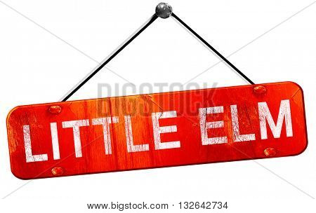 little elm, 3D rendering, a red hanging sign