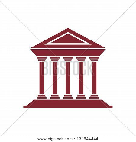 Architecture greek building symbol or temple vector illustration isolated on white background.