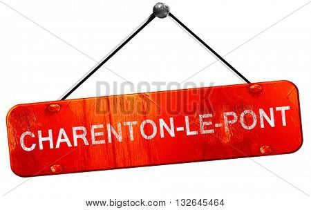 charenton-le-pont, 3D rendering, a red hanging sign