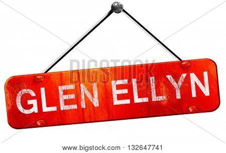 glen ellyn, 3D rendering, a red hanging sign