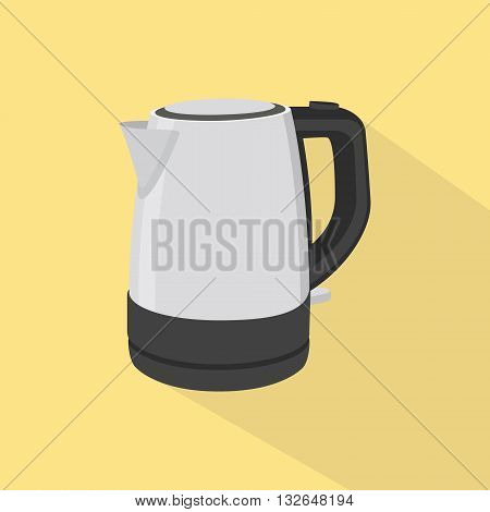 kettle single isolated oibject with yellow background ector graphic illustration