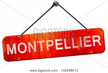 montpellier, 3D rendering, a red hanging sign