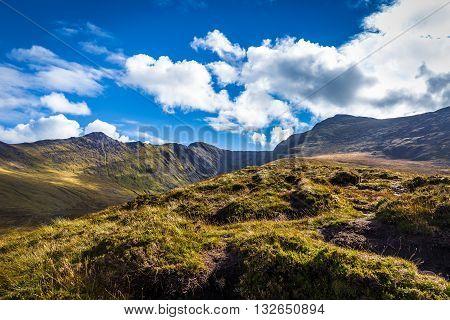 Macgillycuddy's Reeks And Valleys In Kerry In Ireland