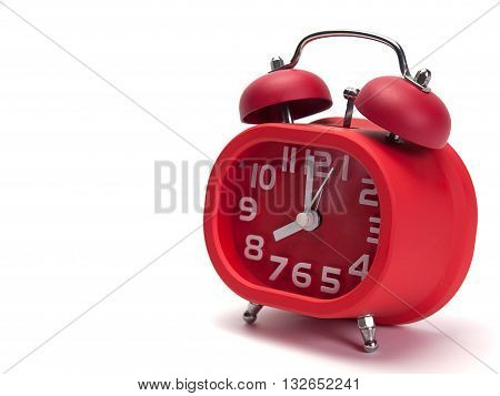 Alarm clock Put on a white background