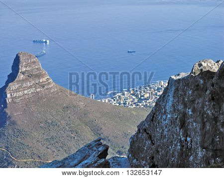 View Of Lions Head From Table Mountain Cape Town South Africa 65