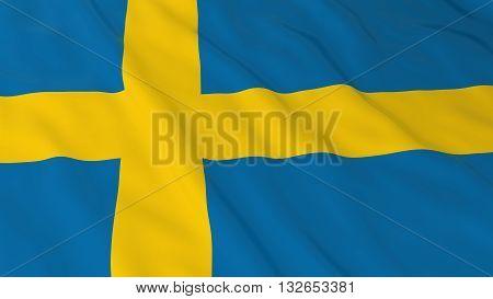 Swedish Flag HD Background - Flag of Sweden 3D Illustration
