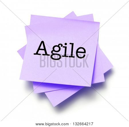 Agile written on a note