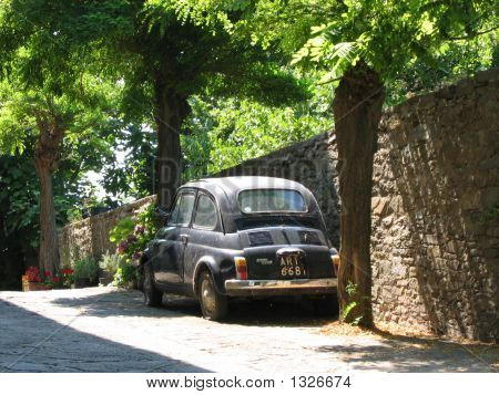 Old Car In Tuscany