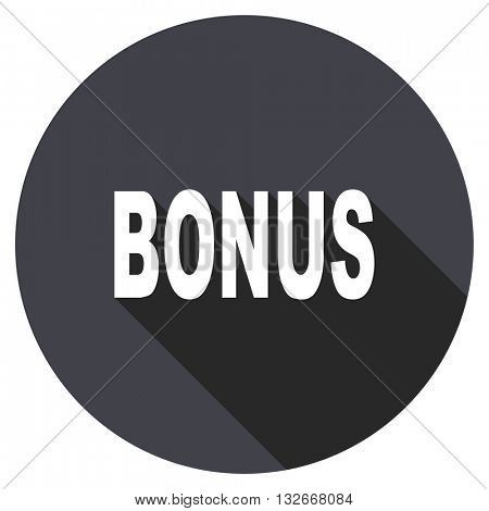 bonus vector icon, circle flat design internet button, web and mobile app illustration