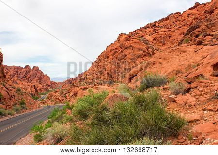 Valley of Fire State Park is the oldest state park in Nevada USA and was designated as a National Natural Landmark in 1968.