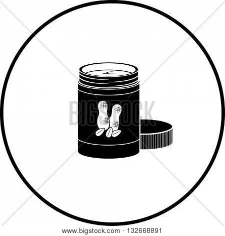 open peanut butter jar symbol