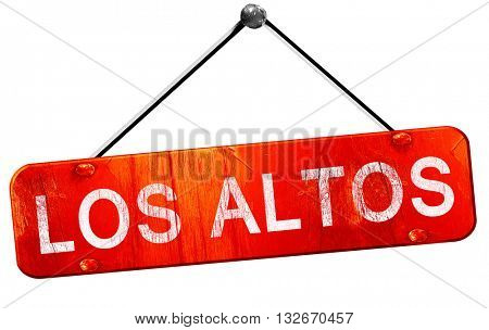 los altos, 3D rendering, a red hanging sign