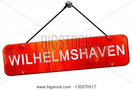 wilhelmshaven, 3D rendering, a red hanging sign