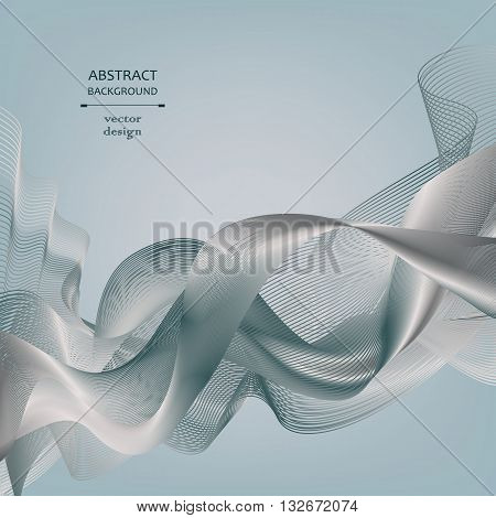 Abstract lighting background. Monochrome gray-blue background with metal effect. Element for design. Vector background eps 10