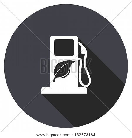 biofuel vector icon, circle flat design internet button, web and mobile app illustration