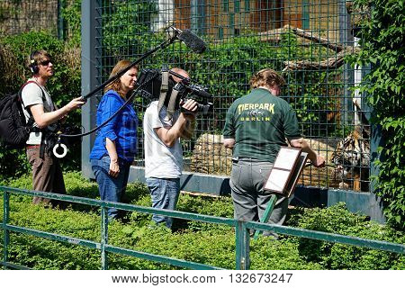 BERLIN, GERMANY - MAY 11, 2016:  BERLIN, GERMANY - MAY 11, 2016: shooting for the TV series