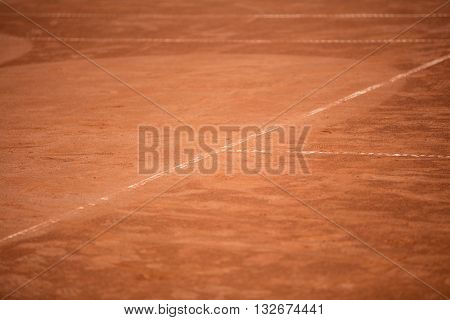 Tennis Balls On The Ground Of Clay Court