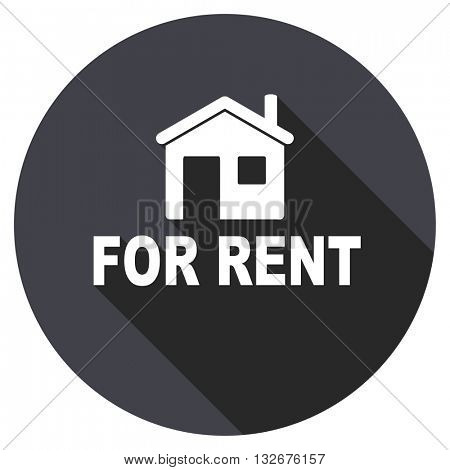 for rent vector icon, circle flat design internet button, web and mobile app illustration