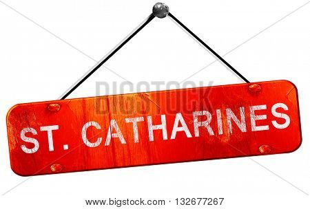 St. catharines, 3D rendering, a red hanging sign