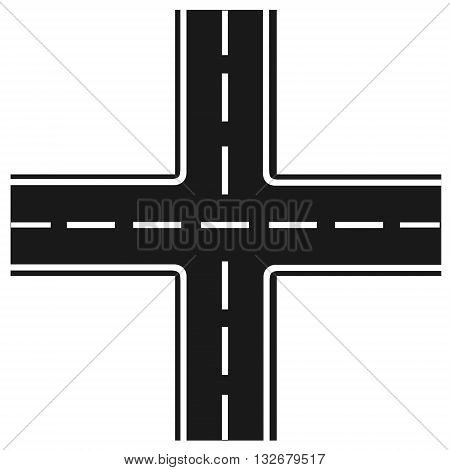 road junction , Illustration crossroads highway intersection
