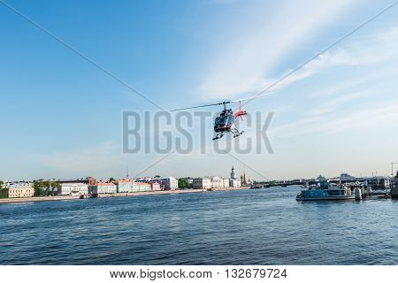 Helicopter Over St.petersburg