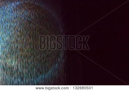 Abstract futuristic background pattern with space rays on black, star trek, glowing circle